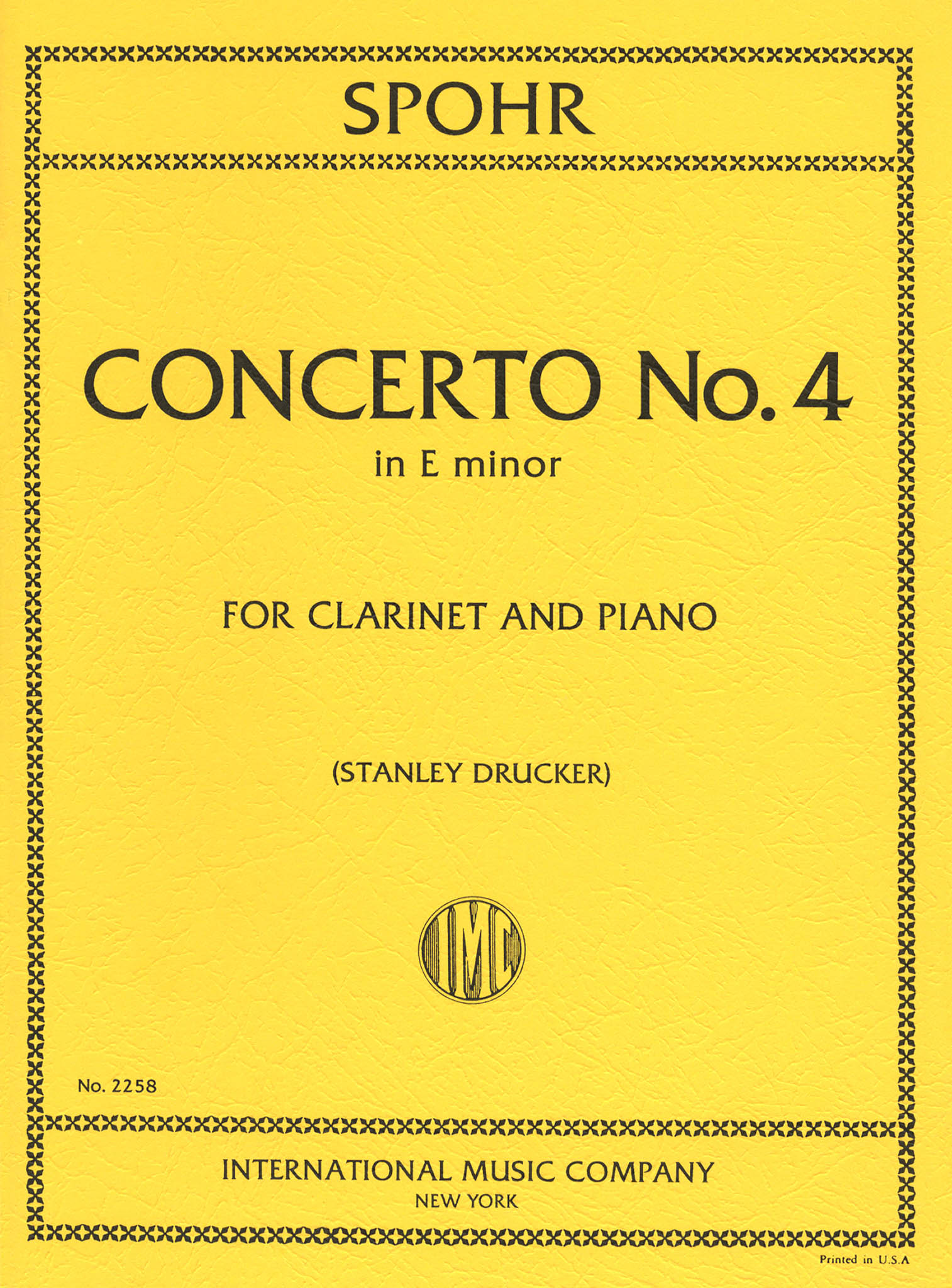 Clarinet Concerto No. 4 in E Minor, WoO 20 Cover