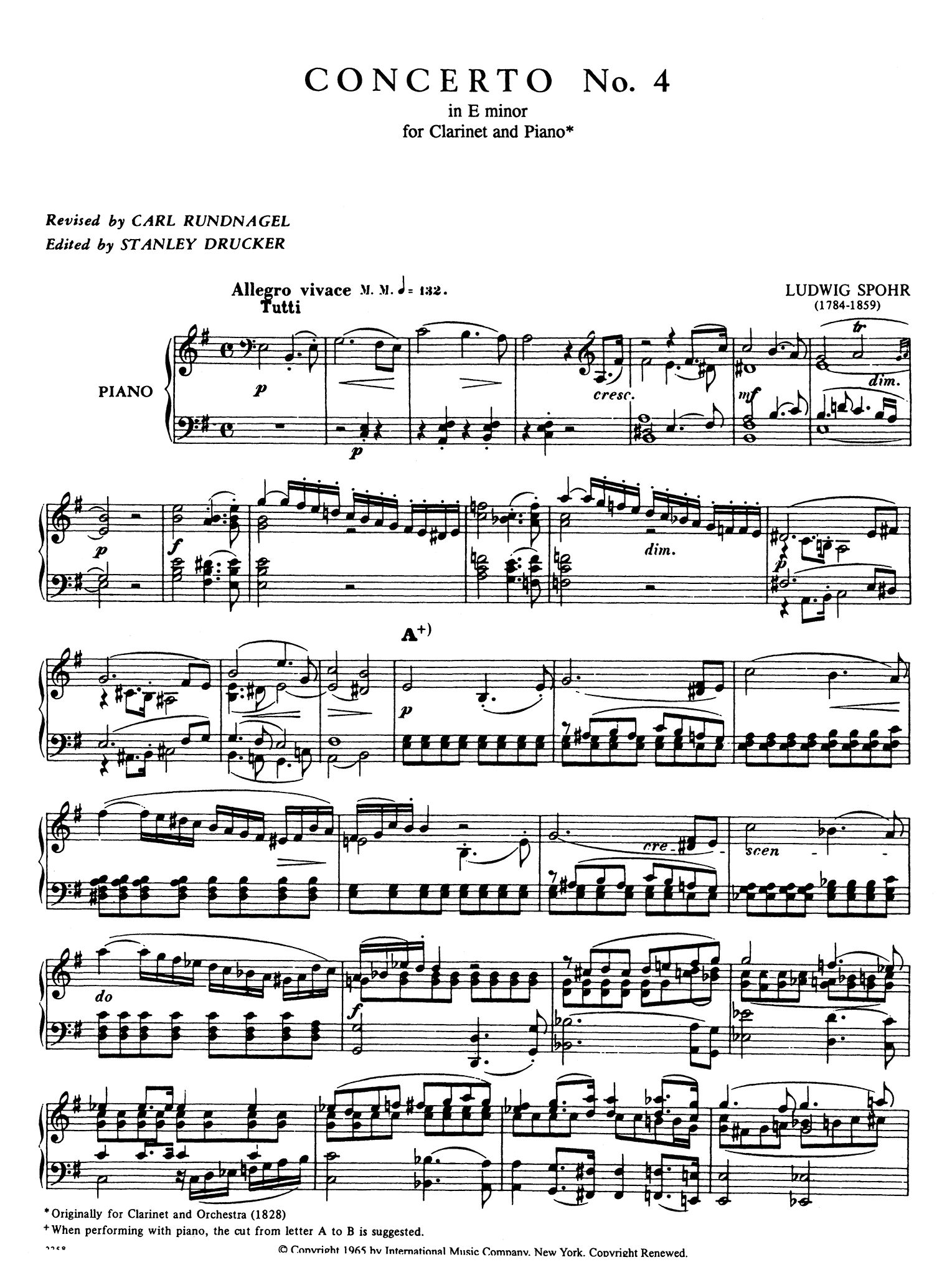 Clarinet Concerto No. 4 in E Minor, WoO 20 - Movement 1