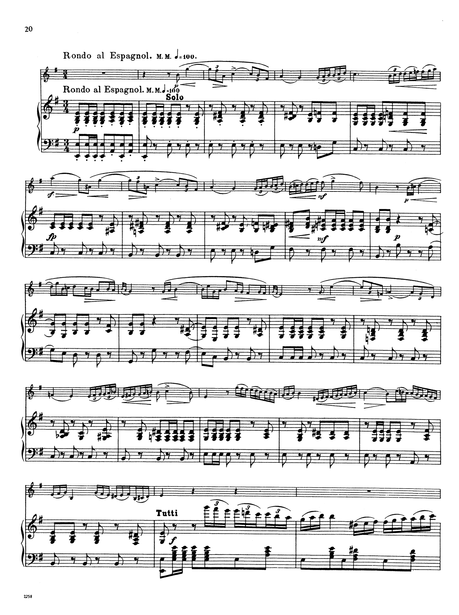 Clarinet Concerto No. 4 in E Minor, WoO 20 - Movement 3