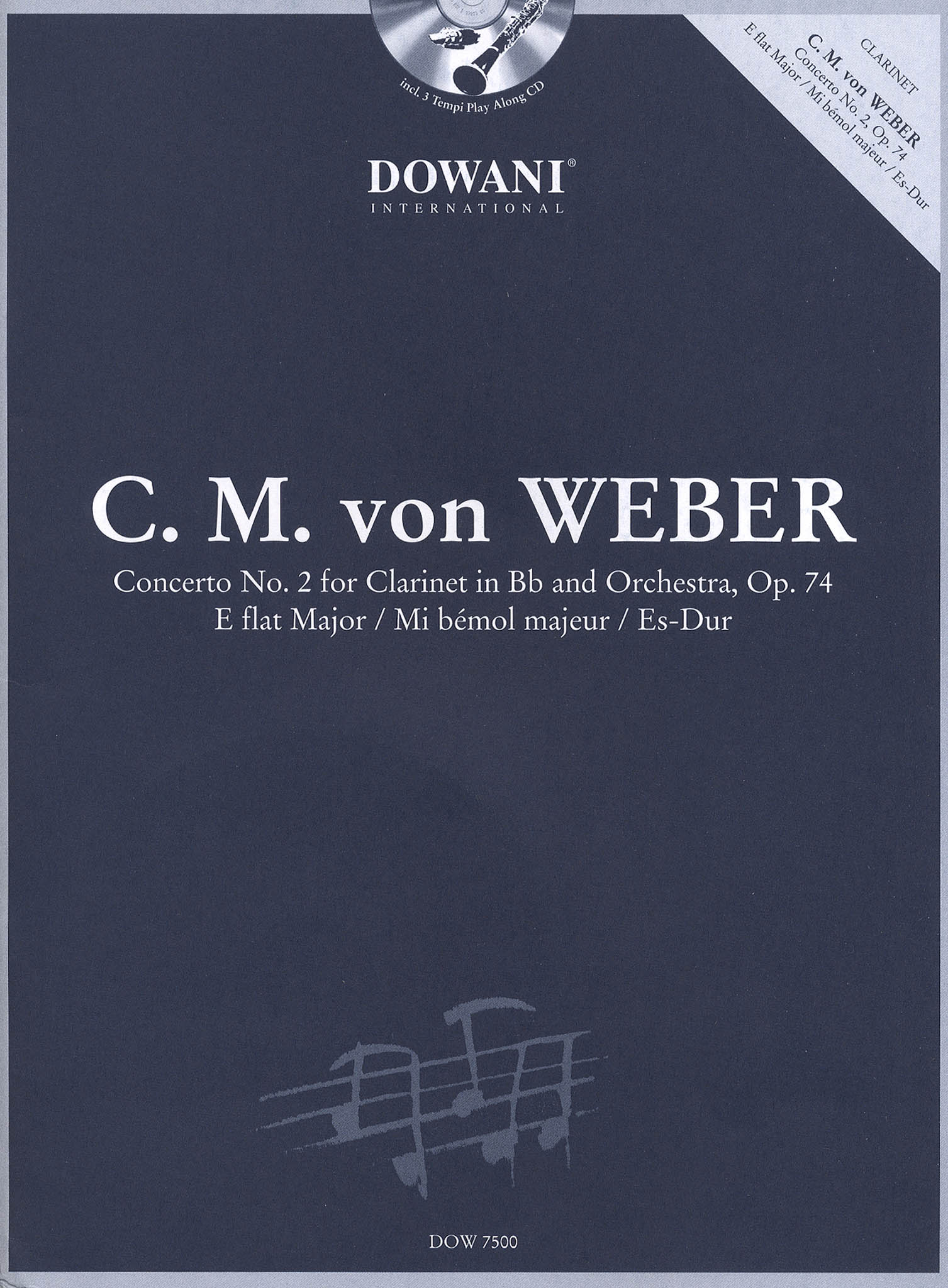 Clarinet Concerto No. 2 in E-flat Major, Op. 74 Cover