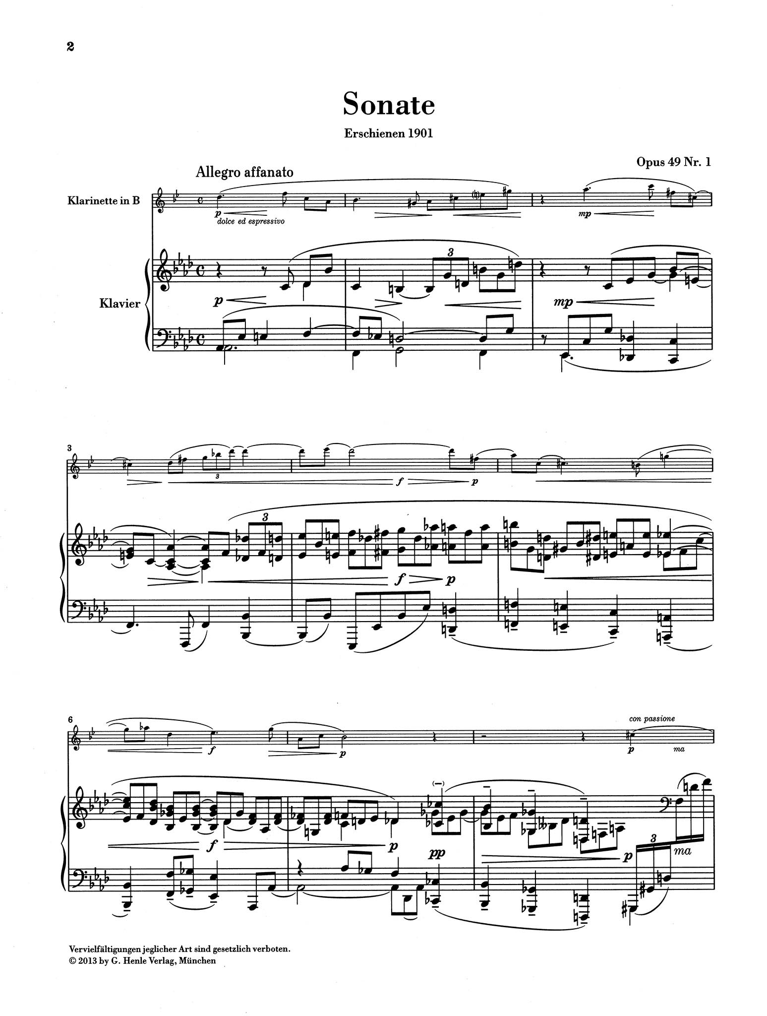 Sonata in A-flat Major, Op. 48 No. 1 - Movement 1