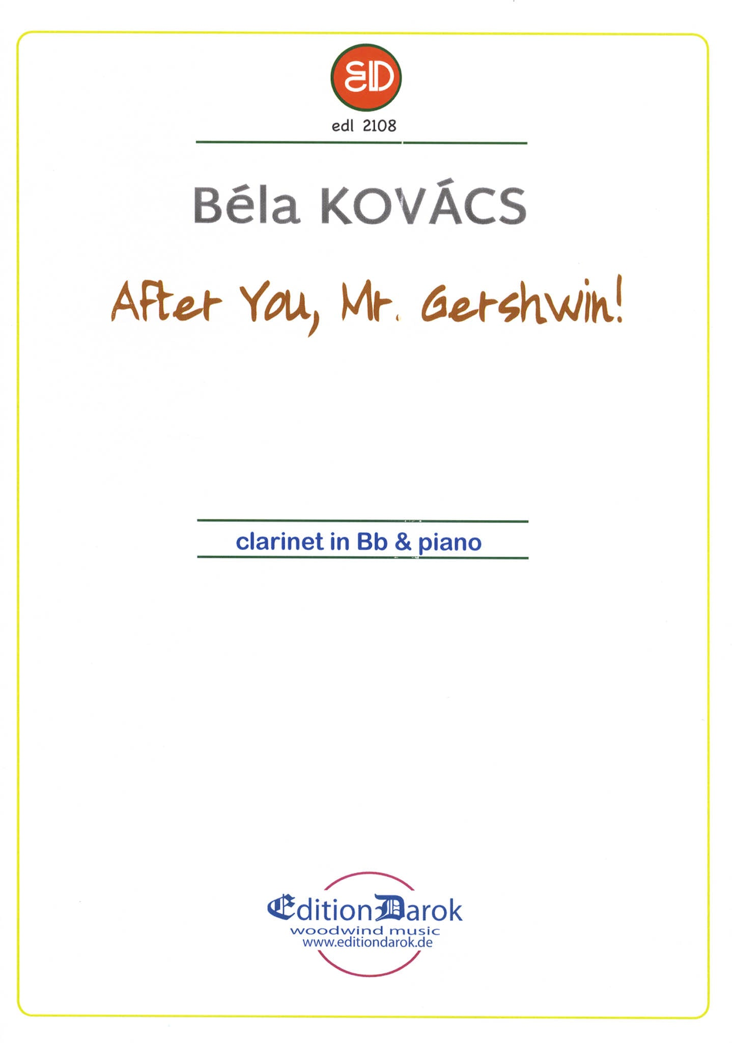 Kovács After You, Mr. Gershwin! Cover