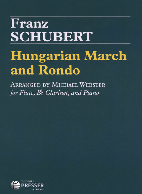 Schubert Hungarian March & Rondo trio arrangement Cover