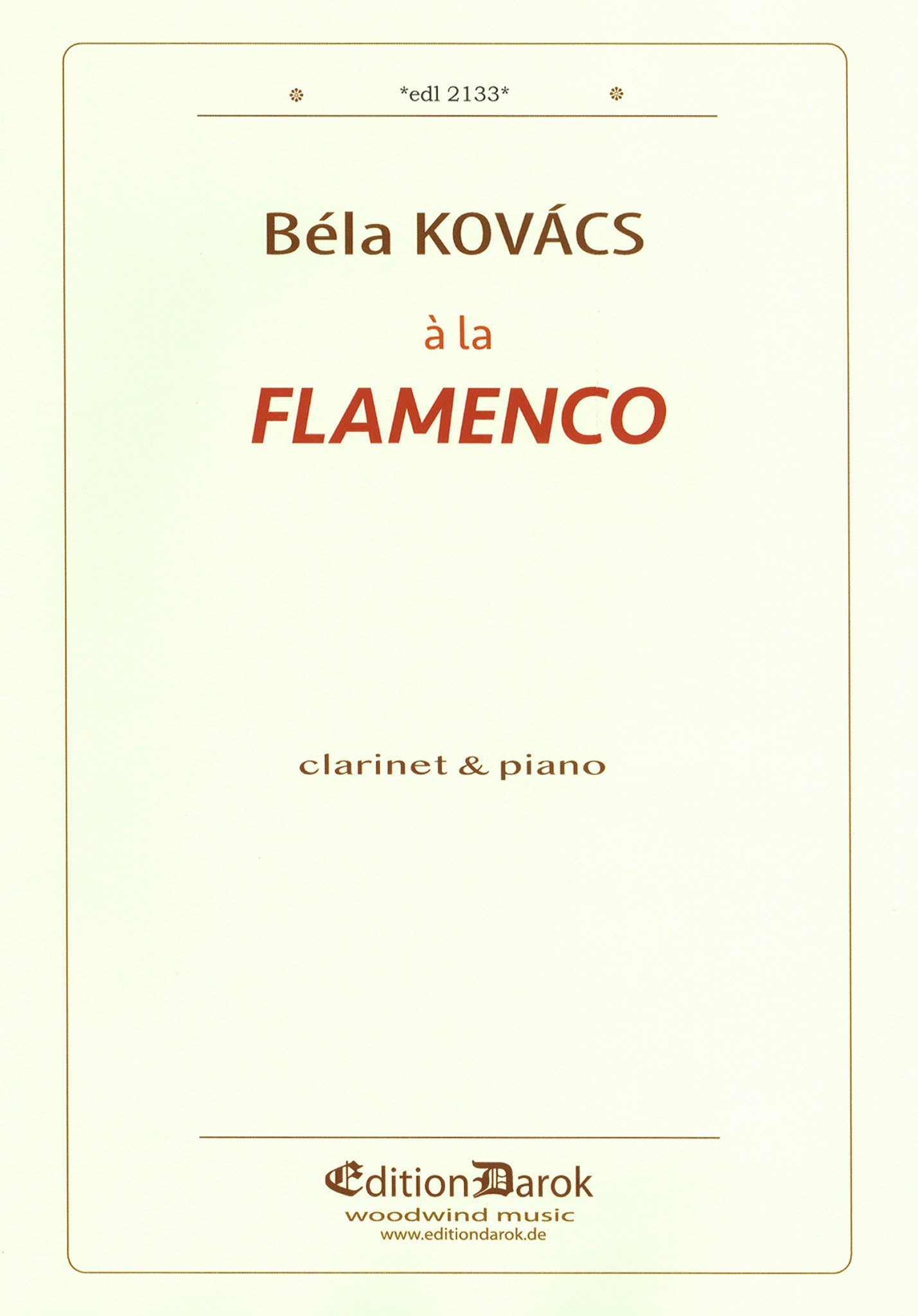 Kovács à la Flamenco Cover