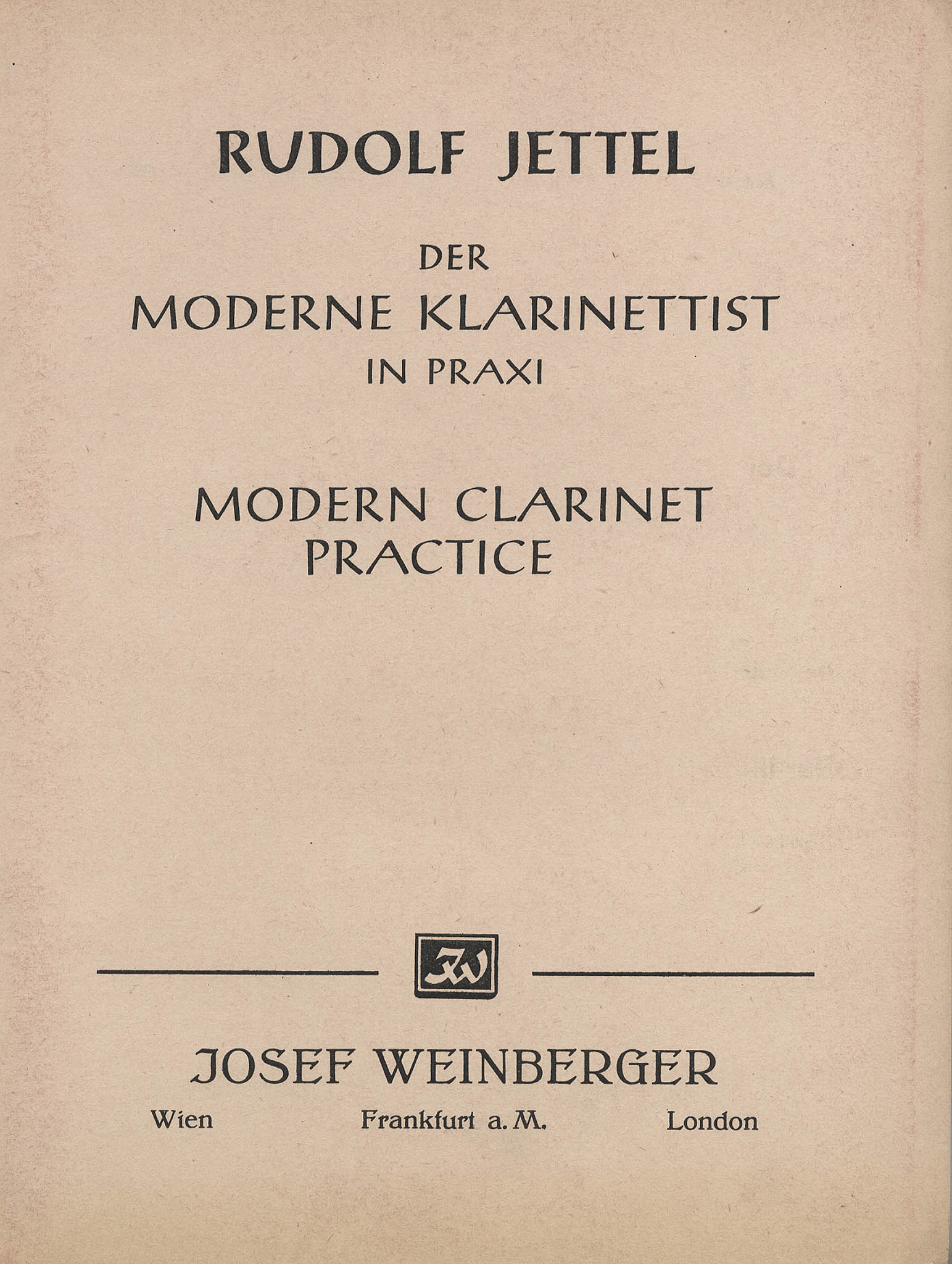 Modern Clarinet Practice, Book 1 Cover