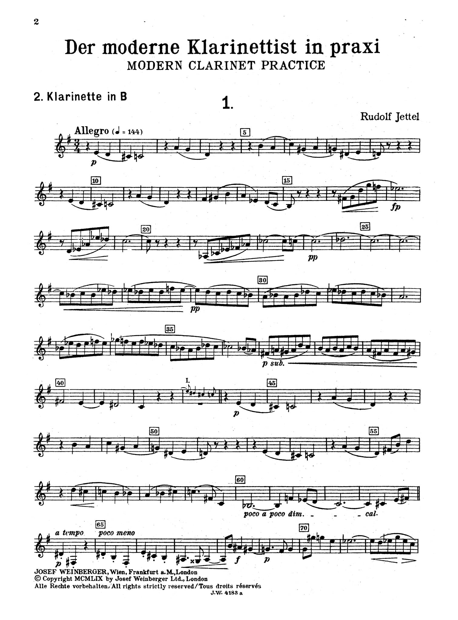 Modern Clarinet Practice, Book 1 Second Clarinet part