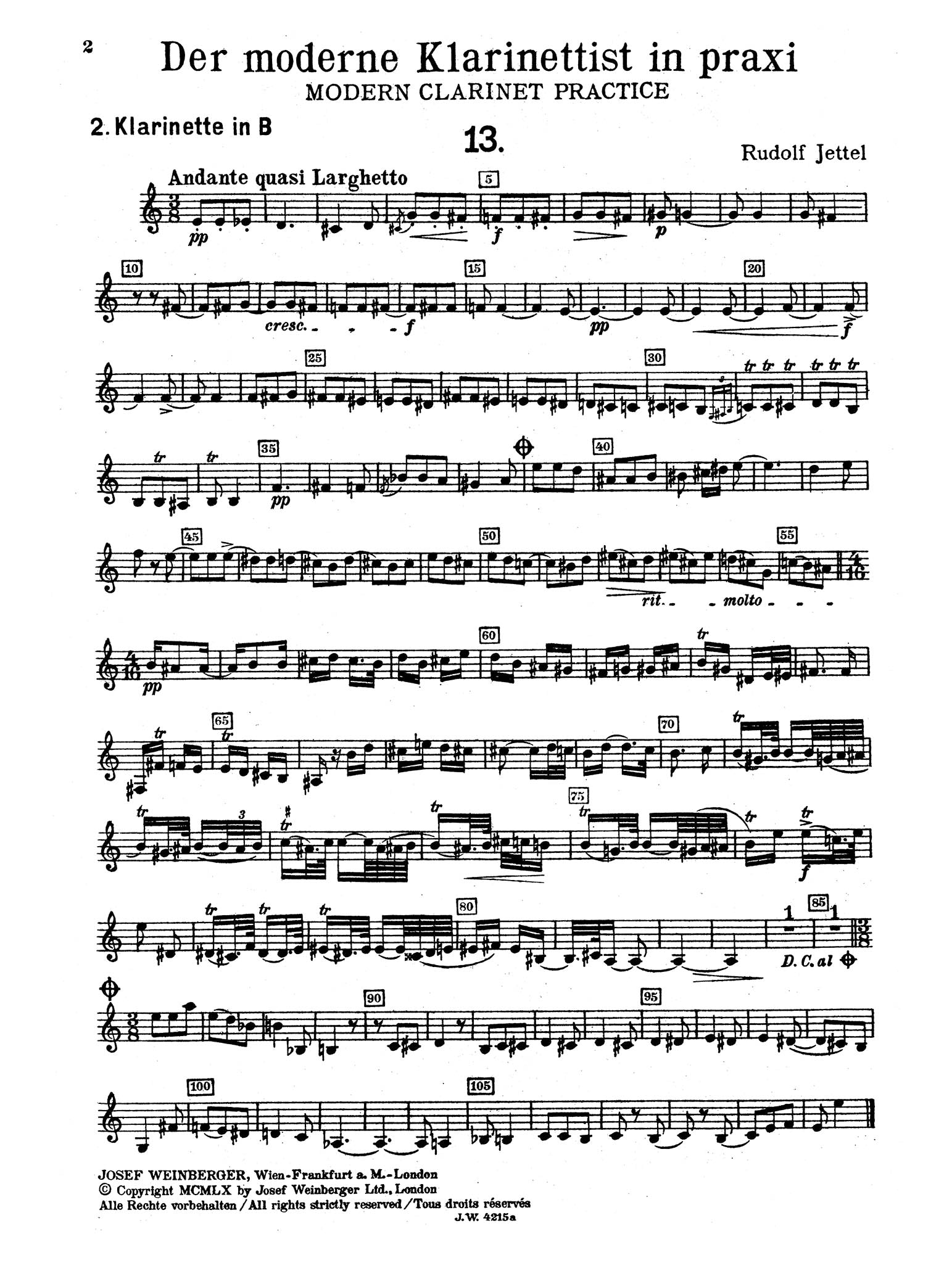 Modern Clarinet Practice, Book 3 Second Clarinet part