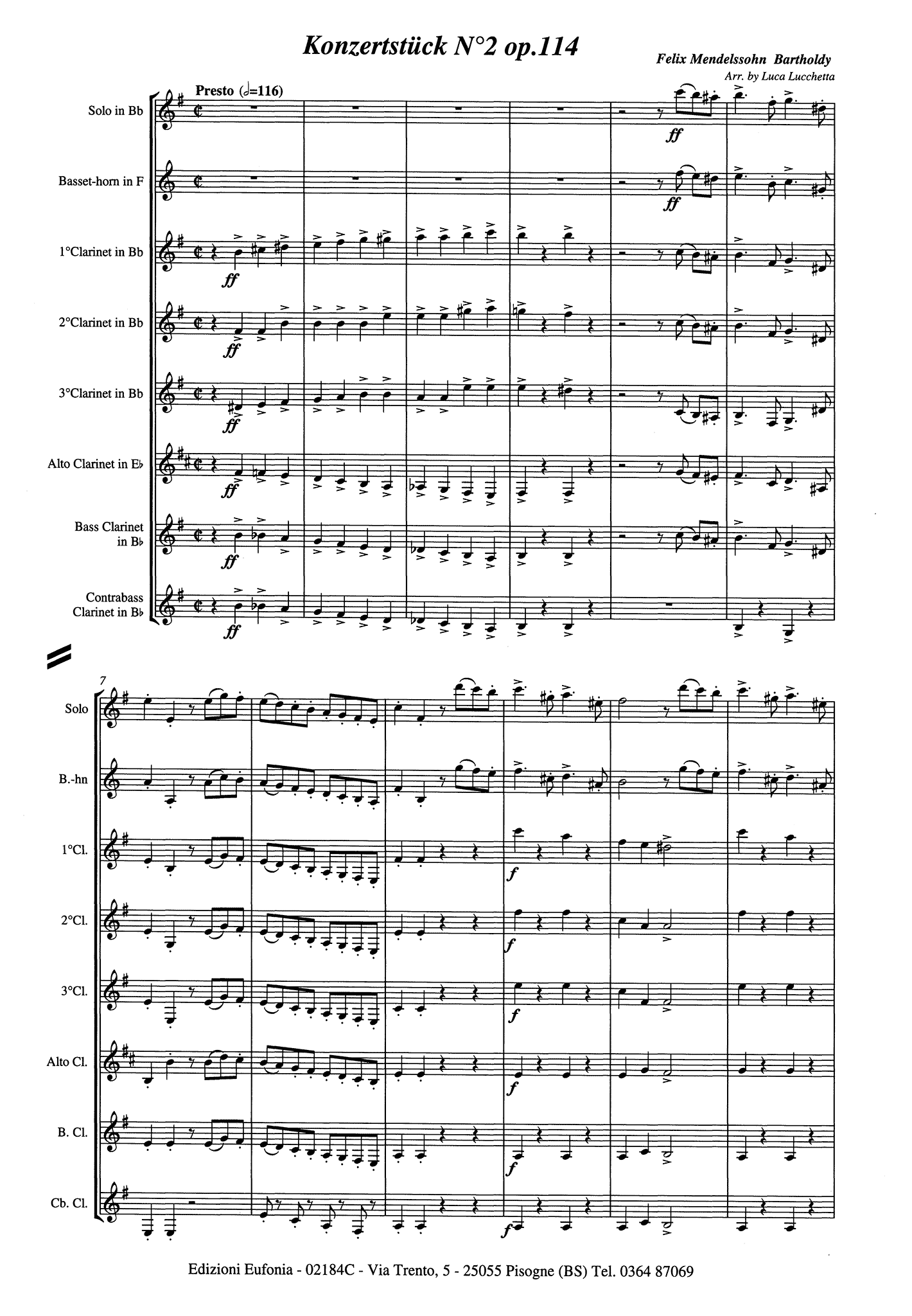 Konzertstück No. 2 in D Minor, Op. 114 Score