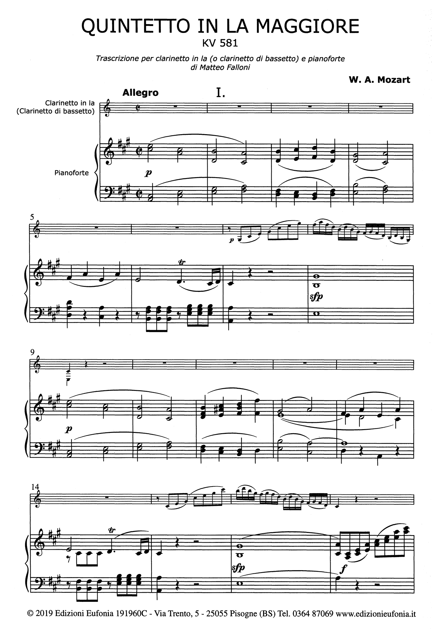 Clarinet Quintet, K. 581 - Movement 1