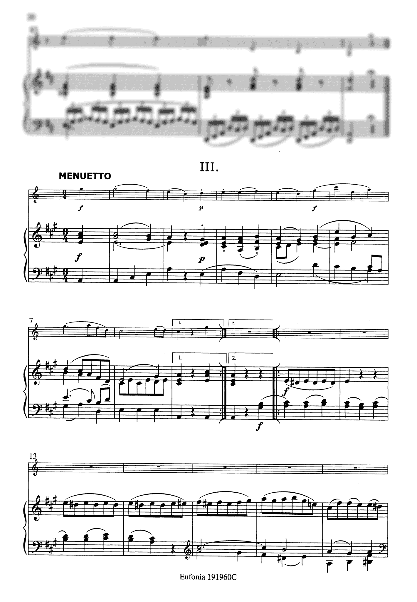 Clarinet Quintet, K. 581 - Movement 3