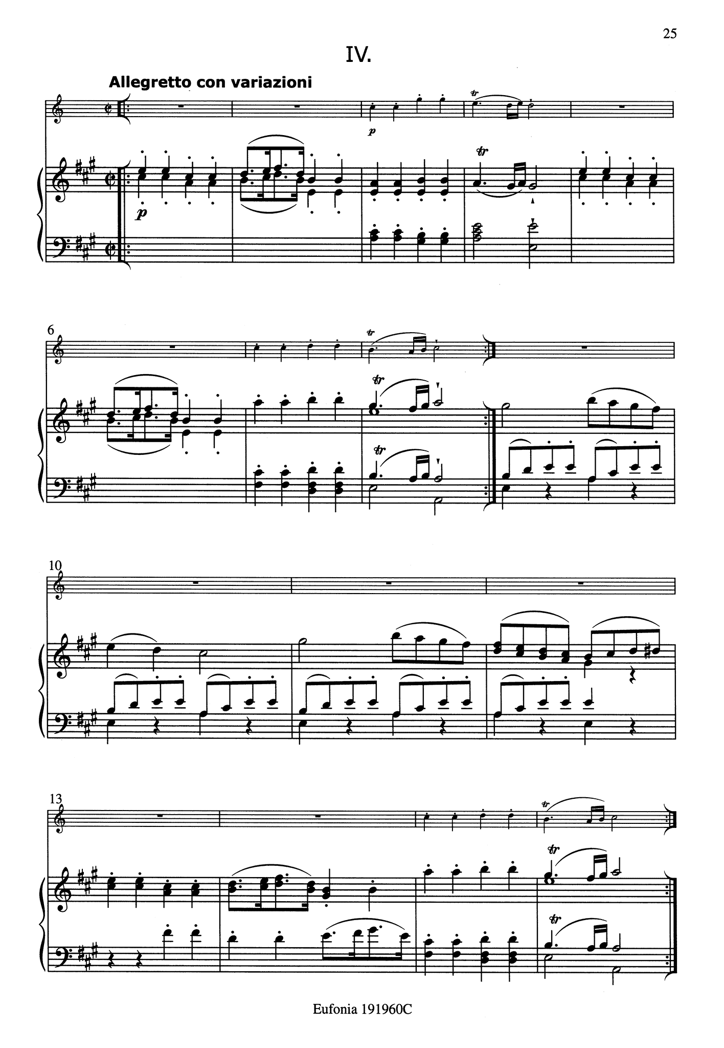 Clarinet Quintet, K. 581 - Movement 4