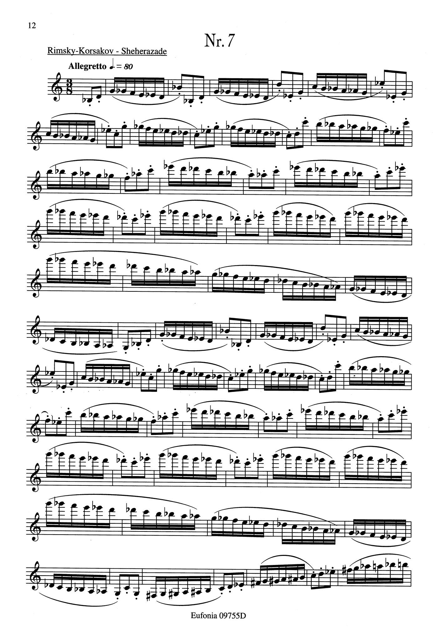 23 Studies for Clarinet Page 12