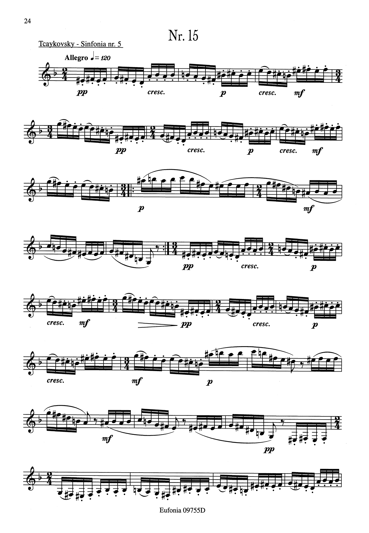 23 Studies for Clarinet Page 24