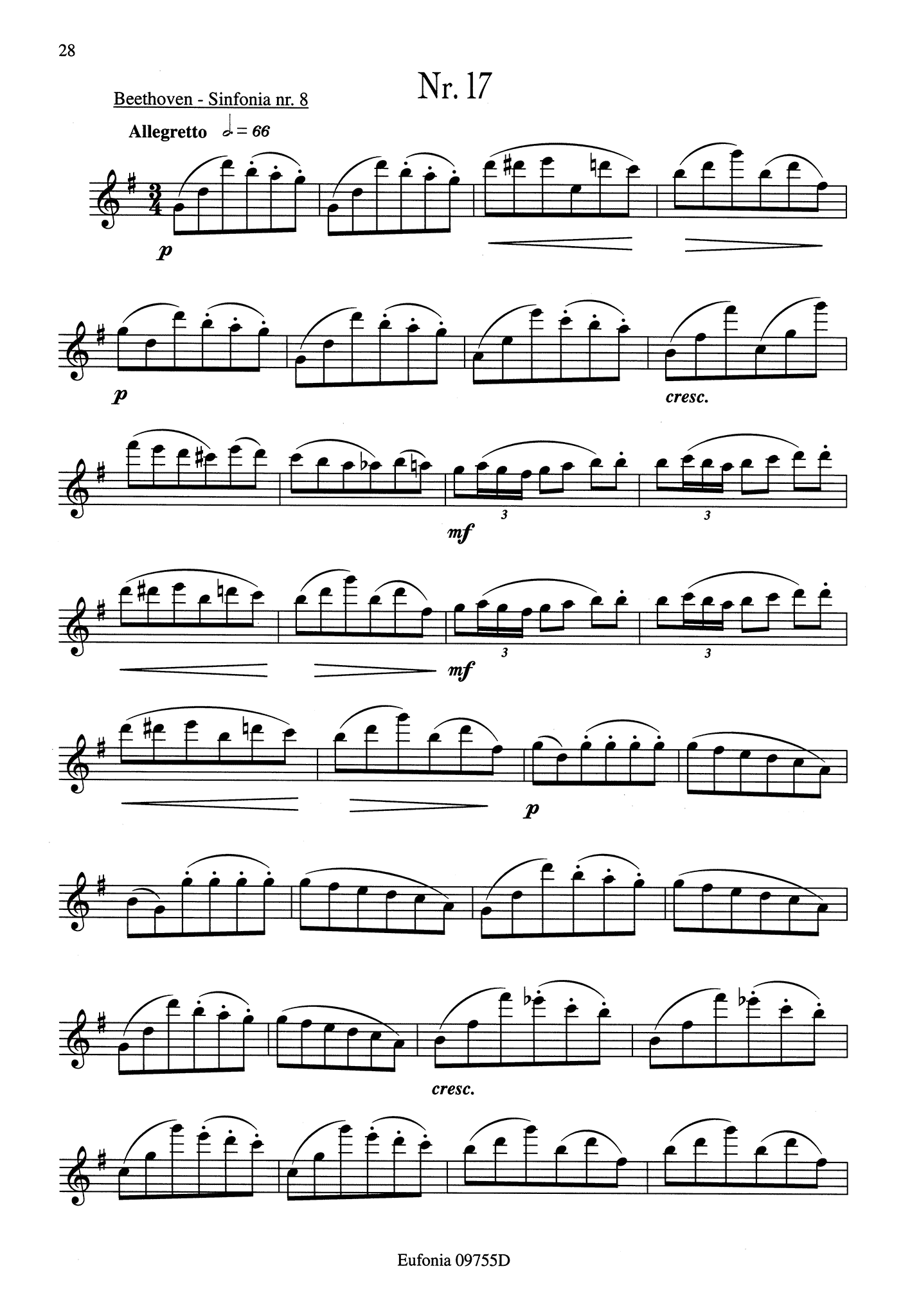 23 Studies for Clarinet Page 28