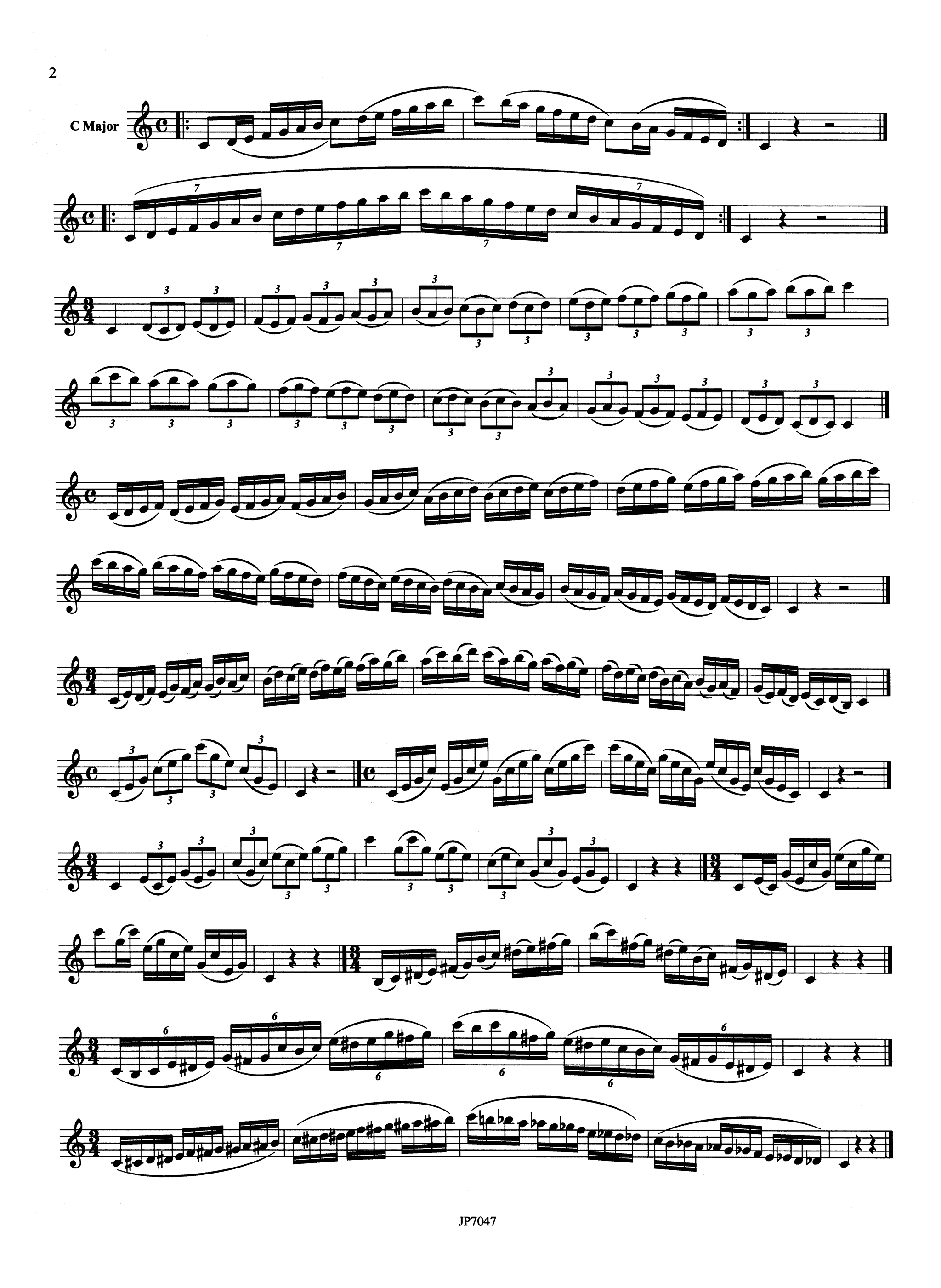 Albert 24 Varied Scales & Exercises for the Clarinet Page 2