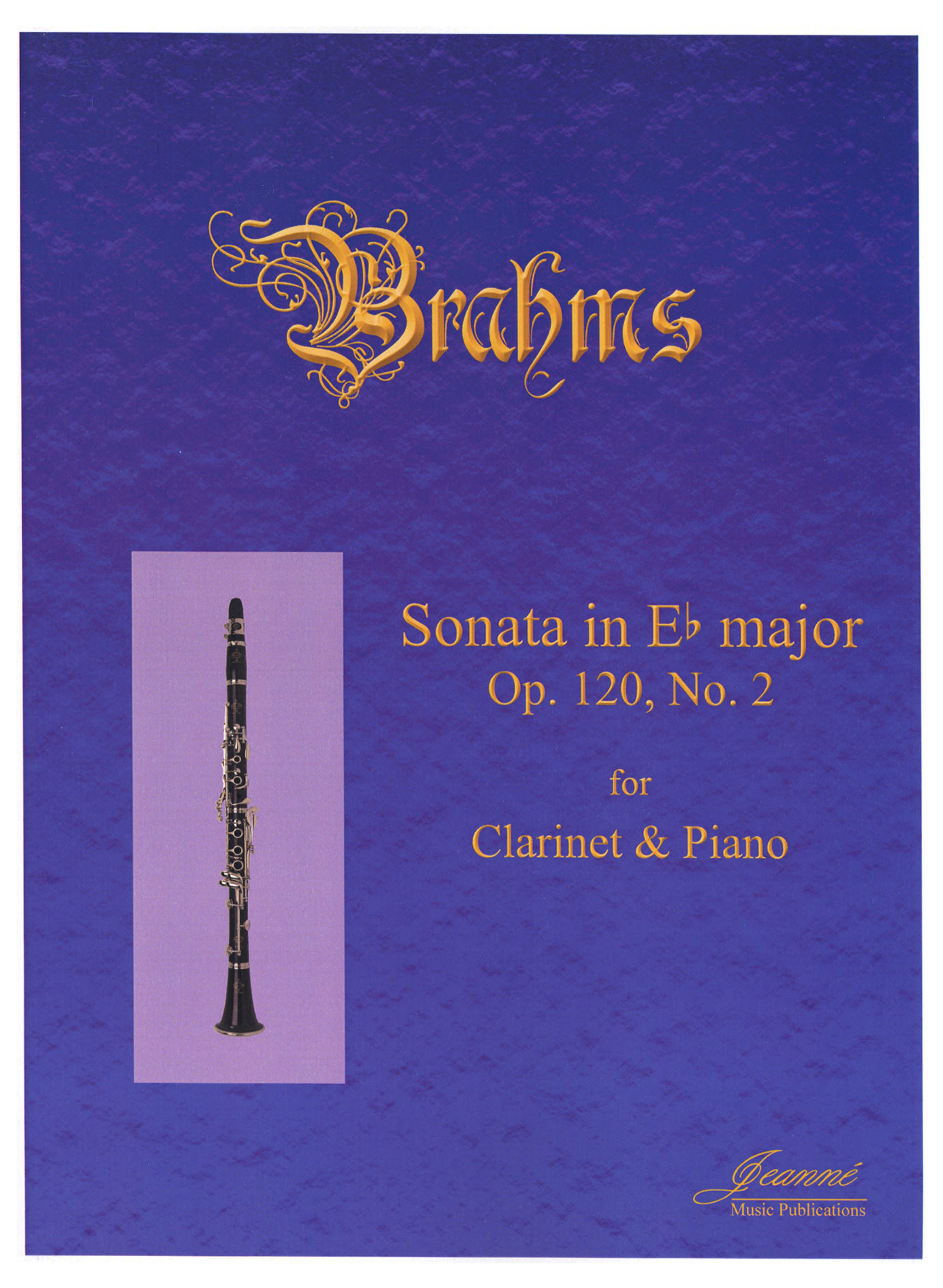 Brahms Sonata in E-flat Major, Op. 120 No. 2 Cover