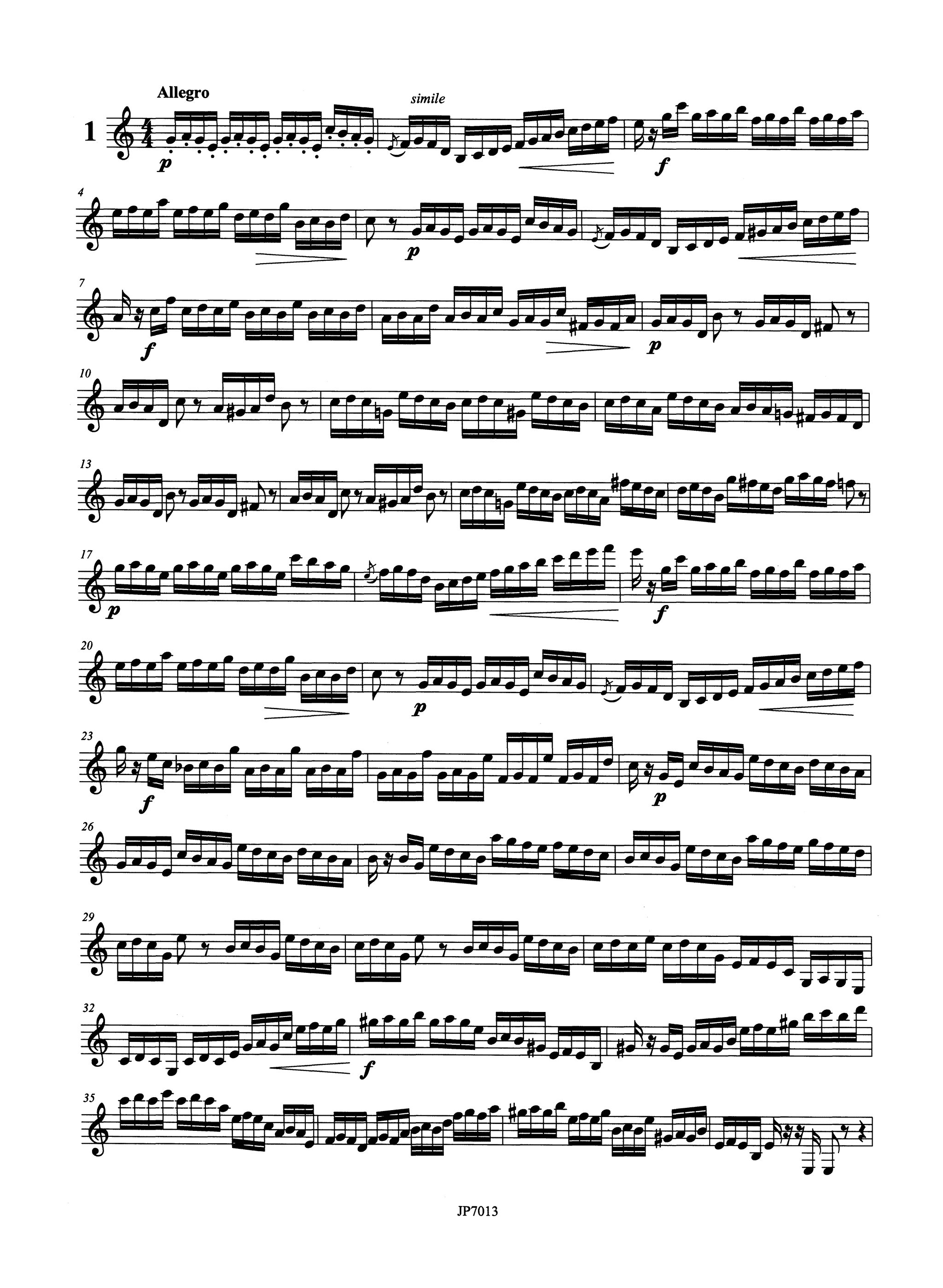 Stark Practical Clarinet Staccato School Op. 53 Book 3 Page 2