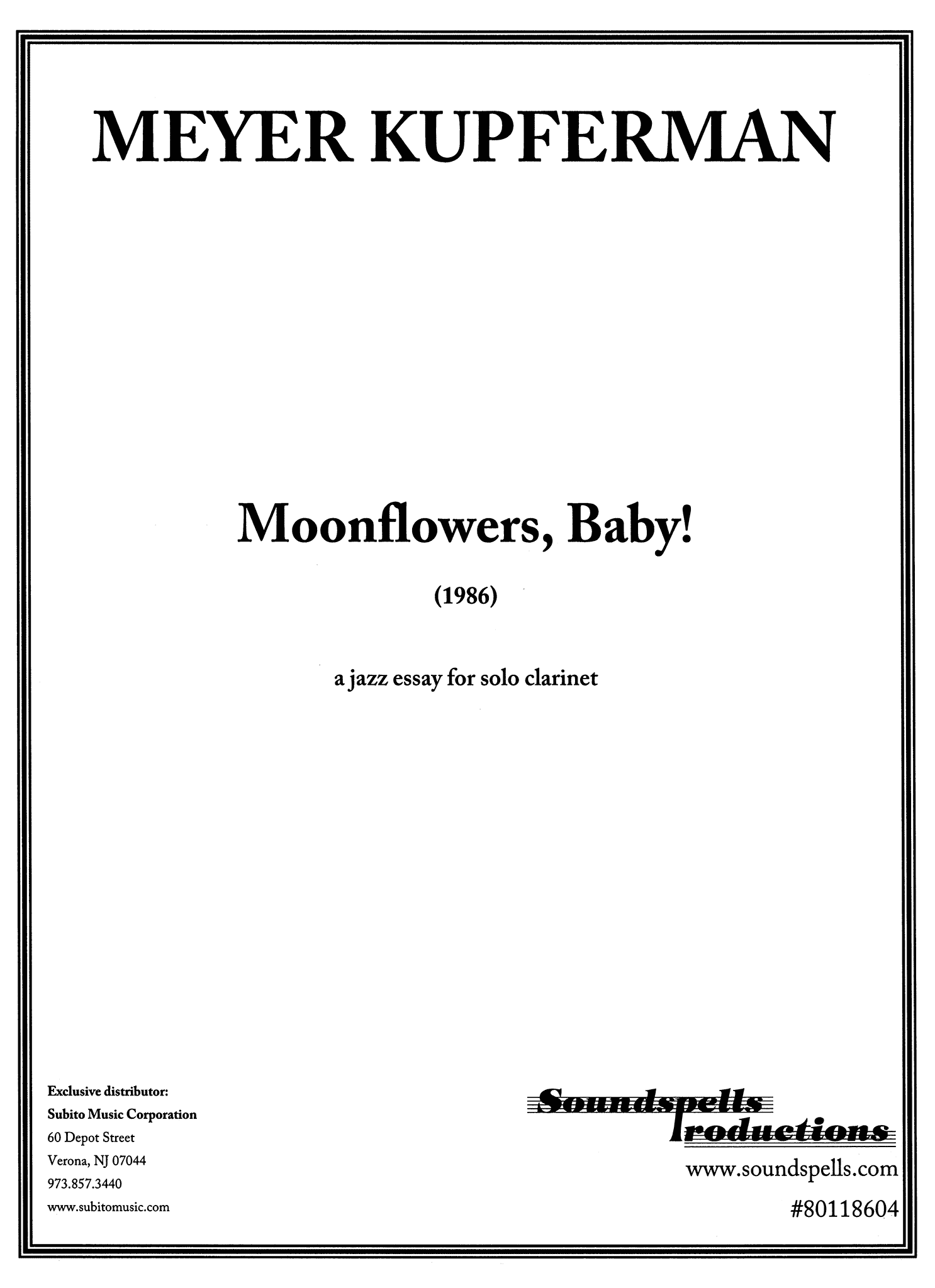 Kupferman Moonflowers, Baby! Cover