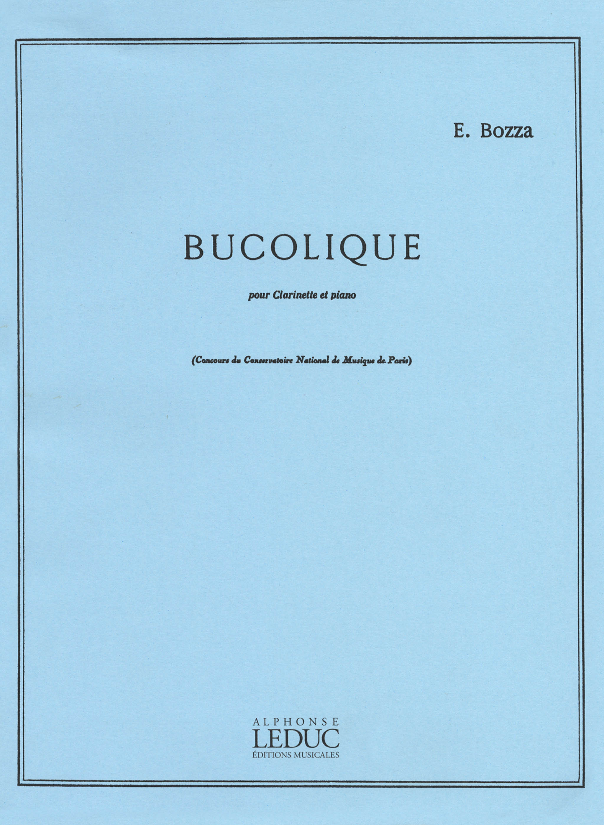 Bozza Bucolique Cover