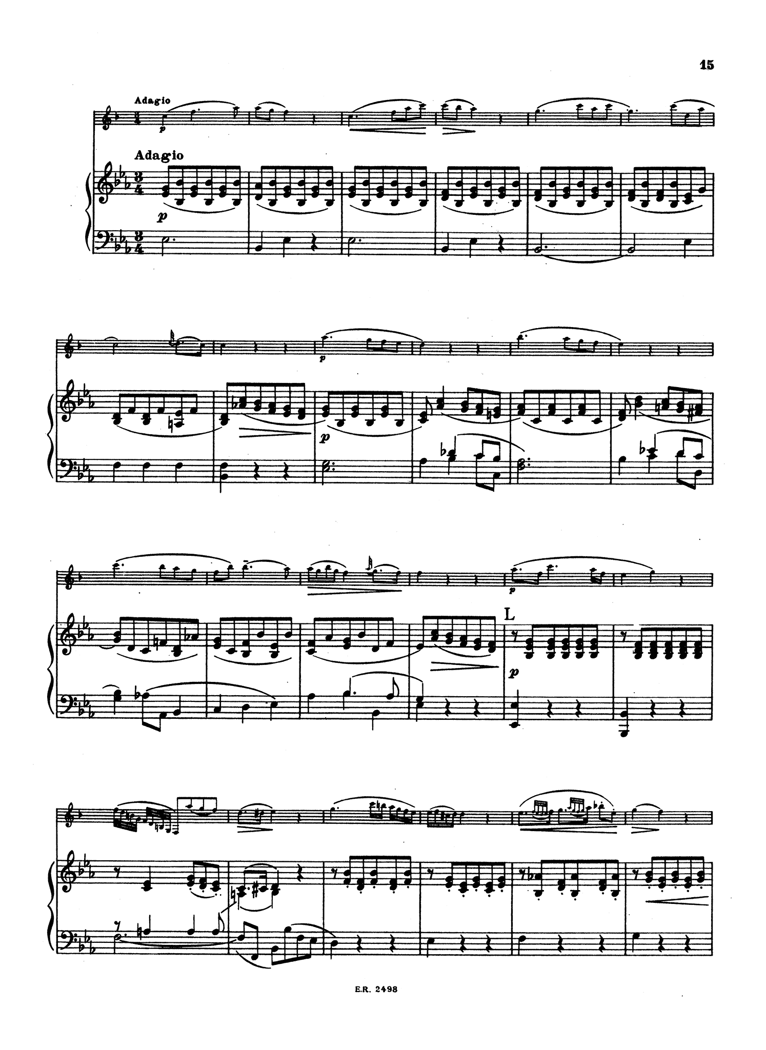 Clarinet Concerto in A Major, K. 622 - Movement 2