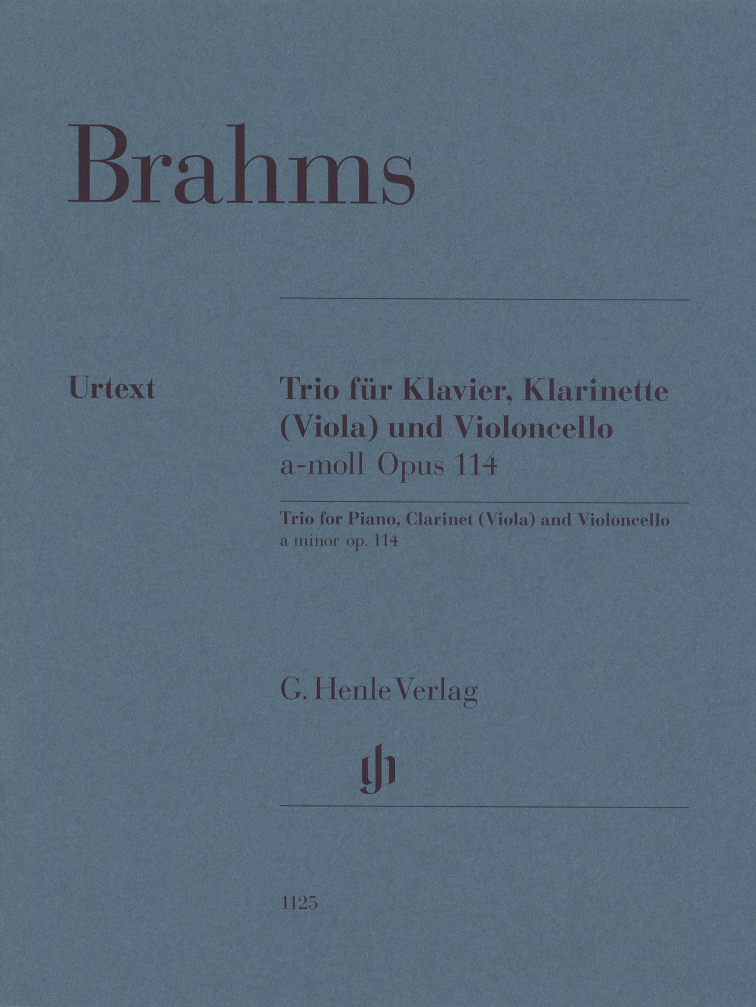 Brahms Clarinet Trio in A Minor, Op. 114 Cover