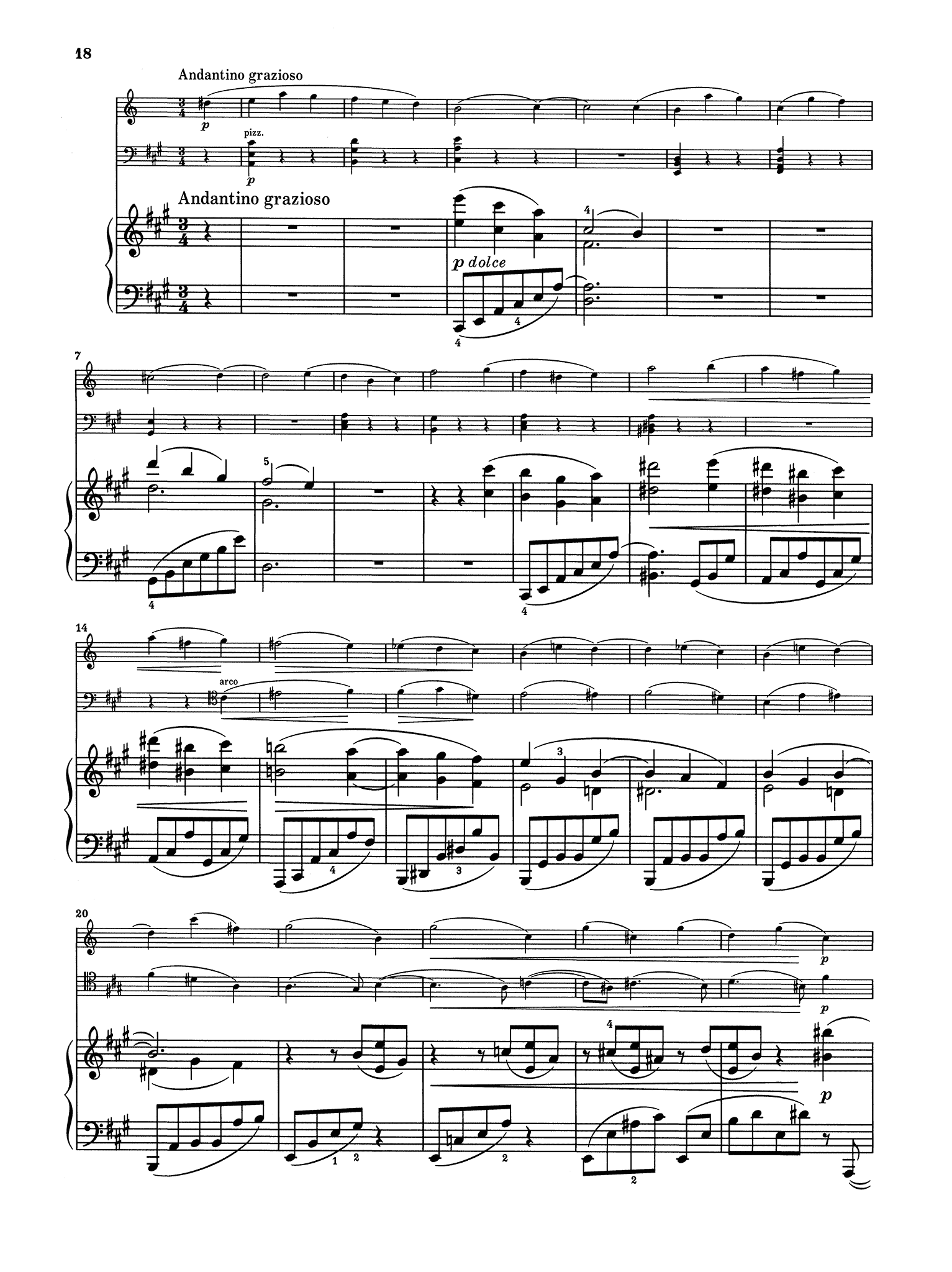 Brahms Clarinet Trio in A Minor, Op. 114 - Movement 3