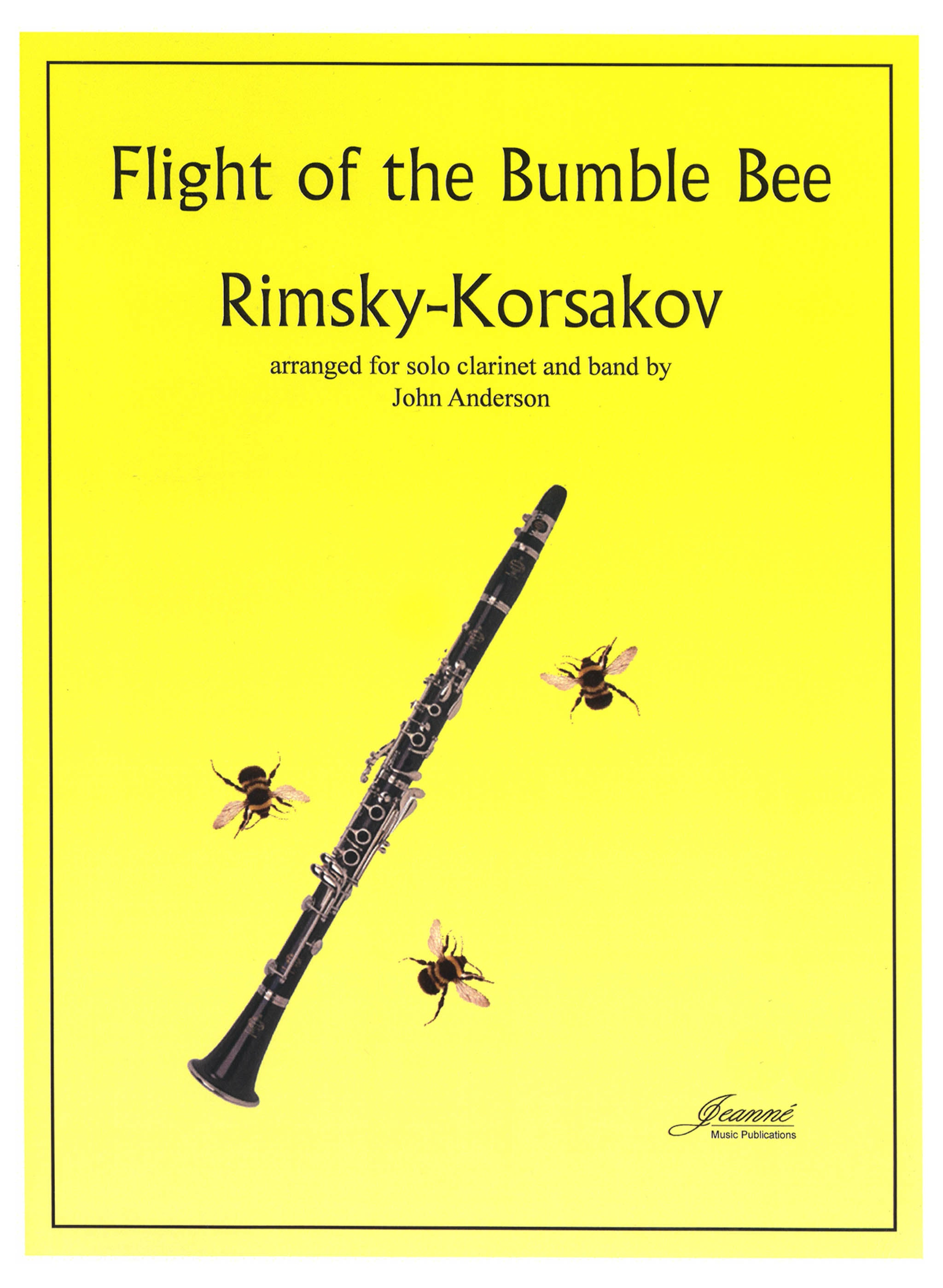 Flight of the Bumblebee for Clarinet & Concert Band Cover