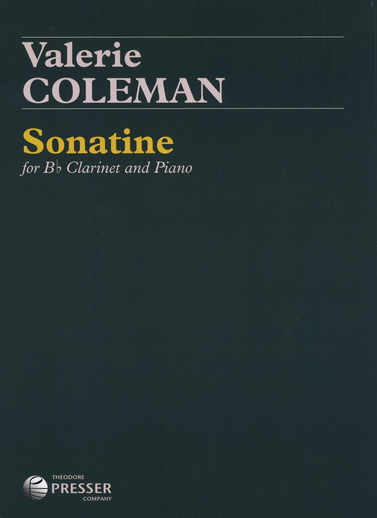 Valerie Coleman Sonatine Cover