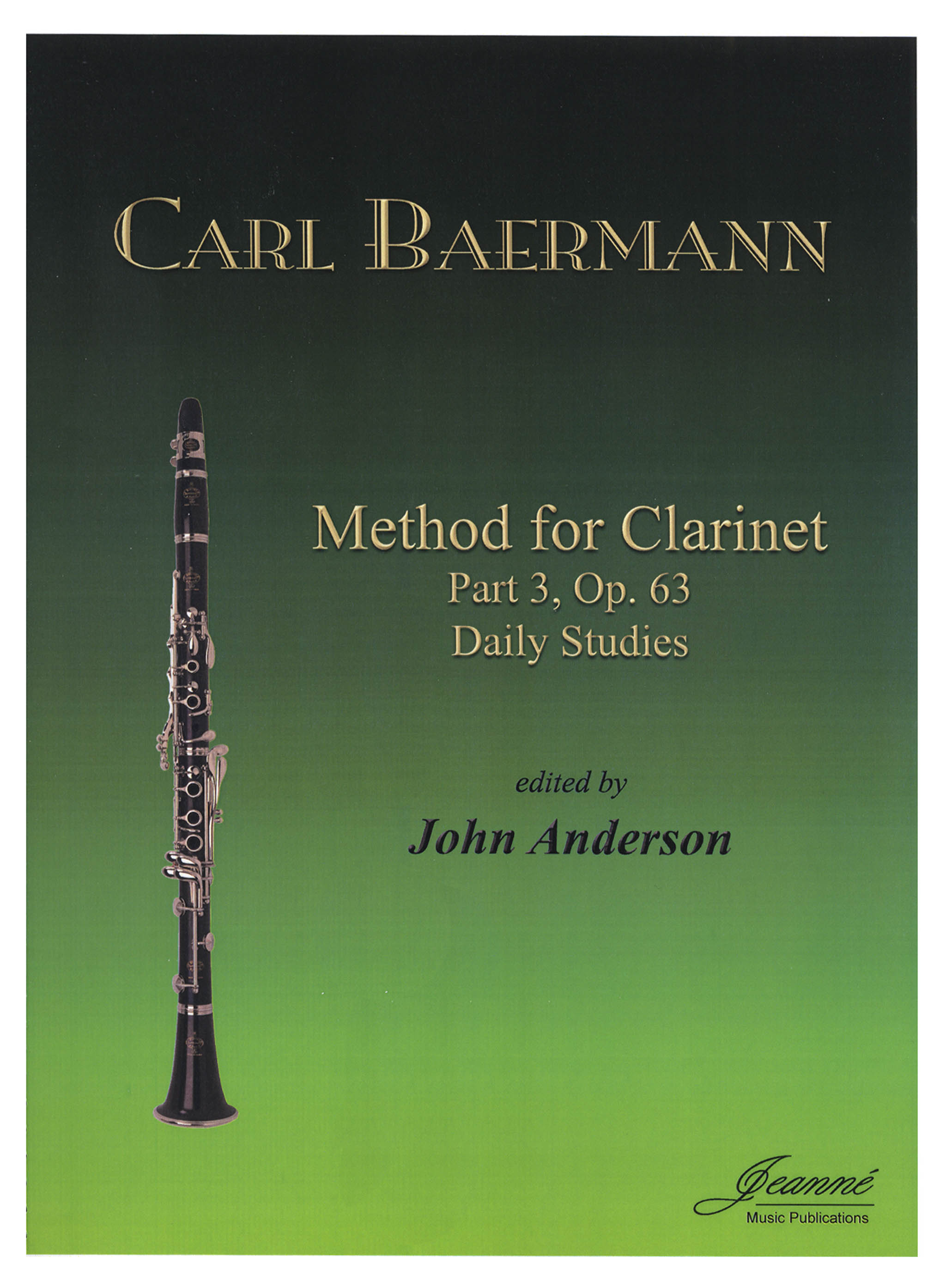 Baermann Clarinet Method, Op. 63, Div. III Cover