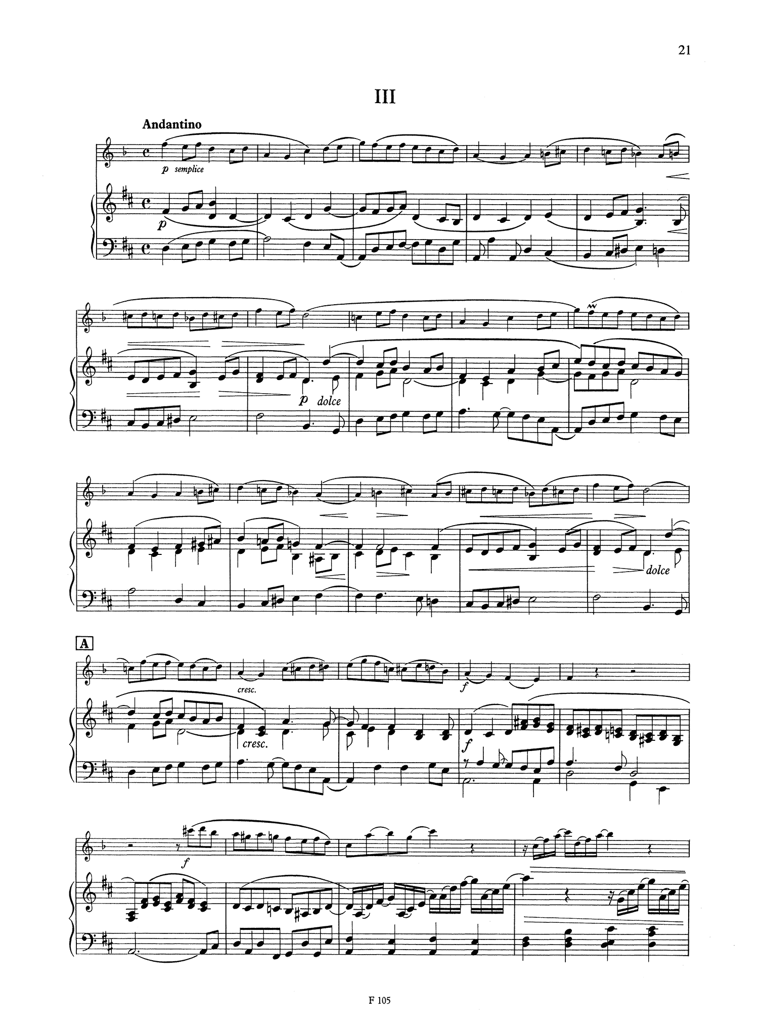 Clarinet Quintet, Op. 115 - Movement 3