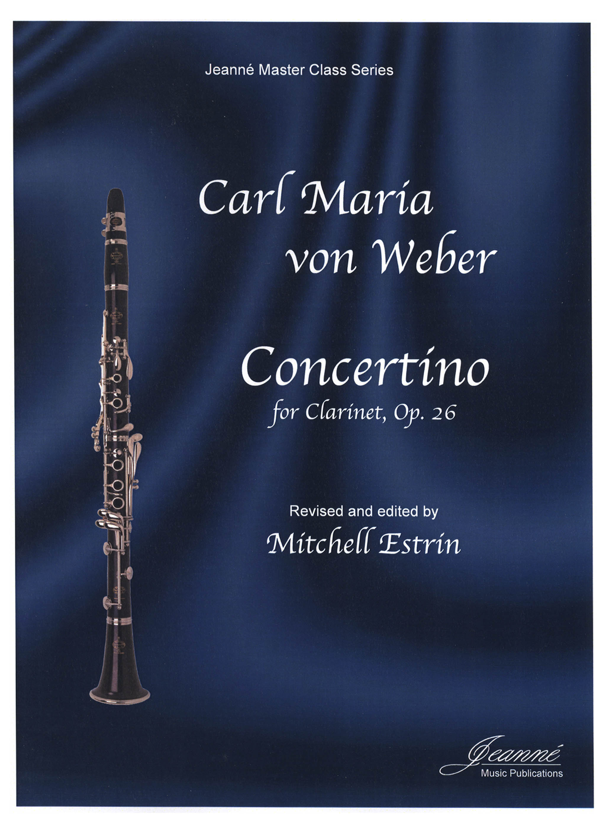 Weber Concertino, Op. 26 Cover