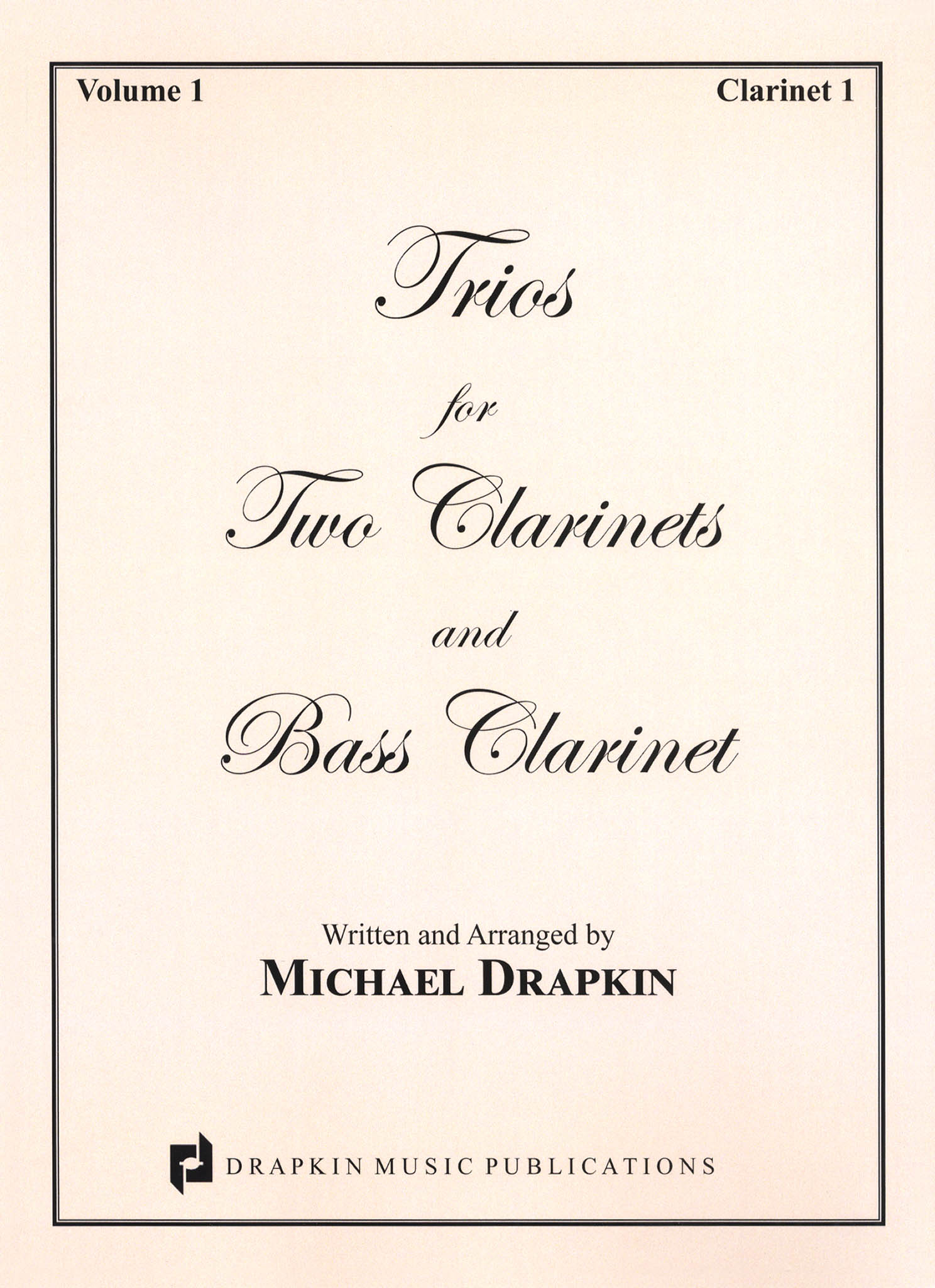 Drapkin Clarinet Trios Volume 1 (parts) Cover