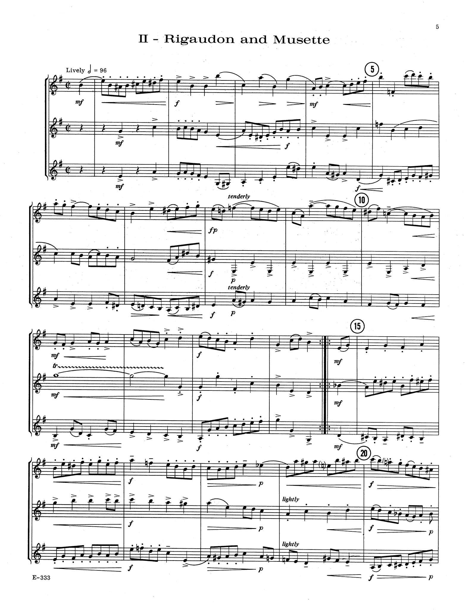 Two Movements from Trio in D Minor, Op. 49 No. 1 - Movement 2