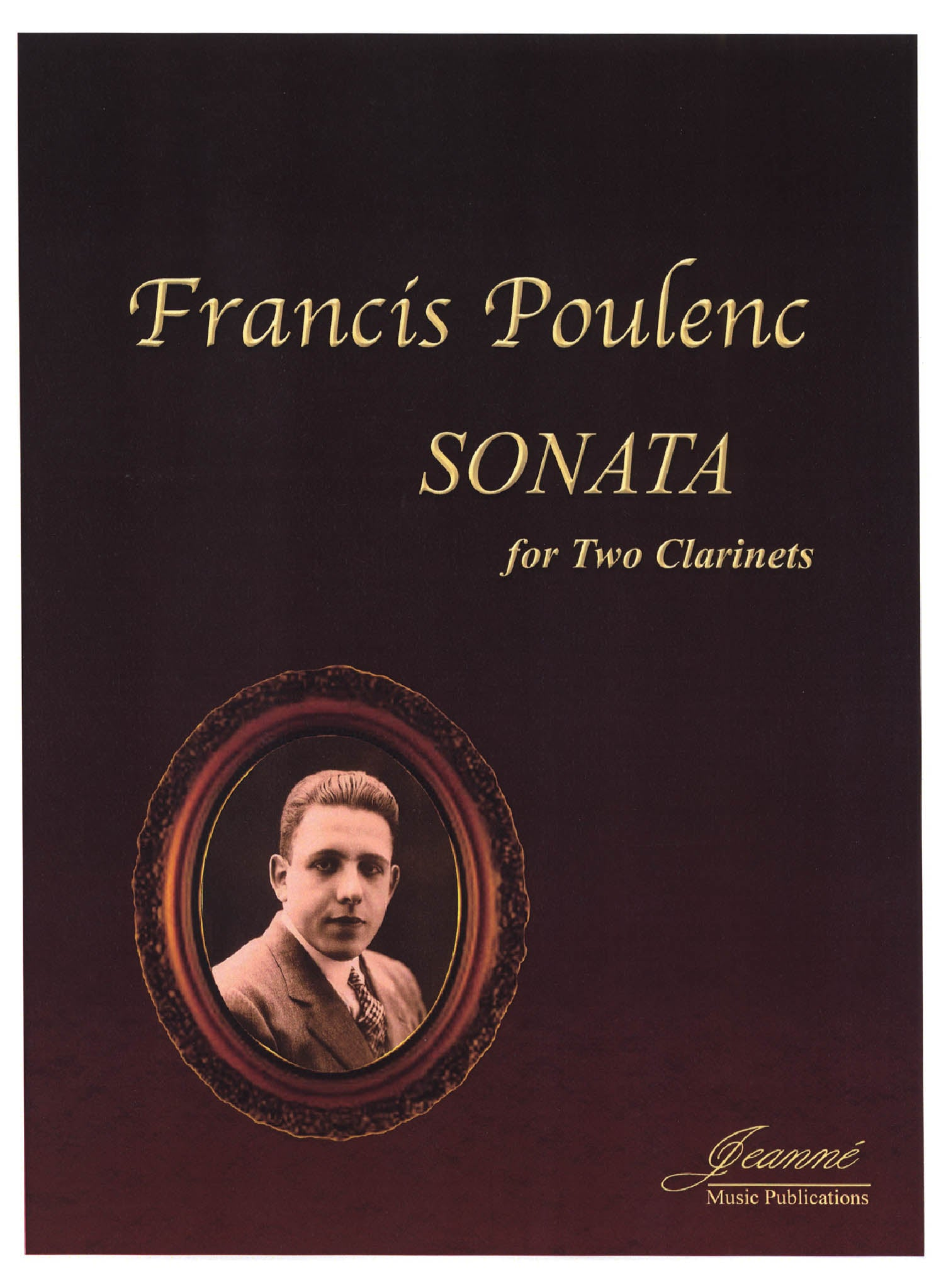Poulenc Sonata for Two Clarinets, FP 7 Cover