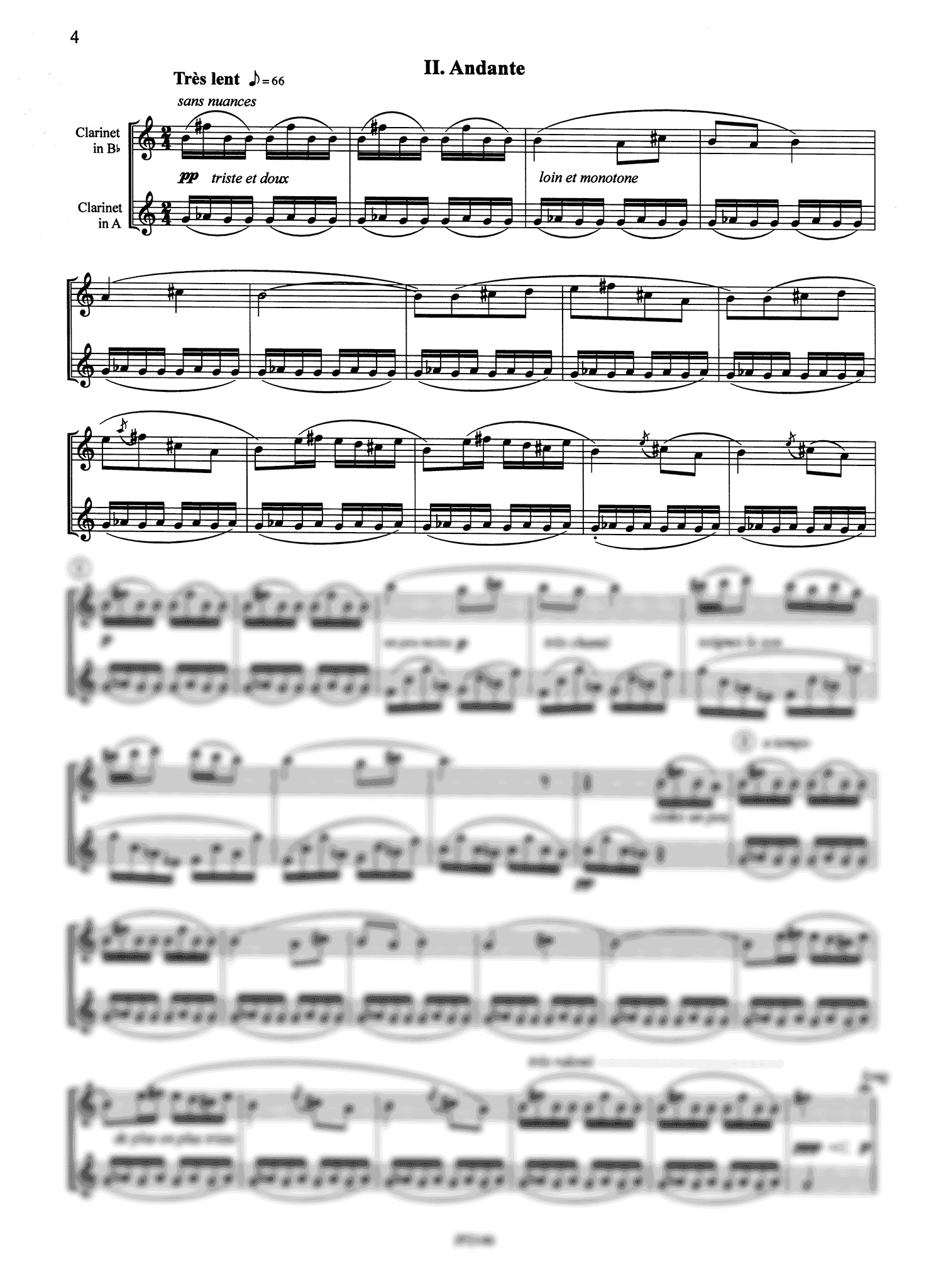 Poulenc Sonata for Two Clarinets, FP 7 - Movement 2