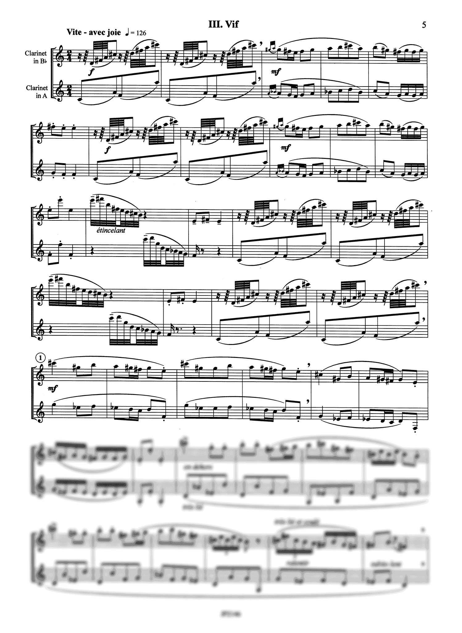 Poulenc Sonata for Two Clarinets, FP 7 - Movement 3