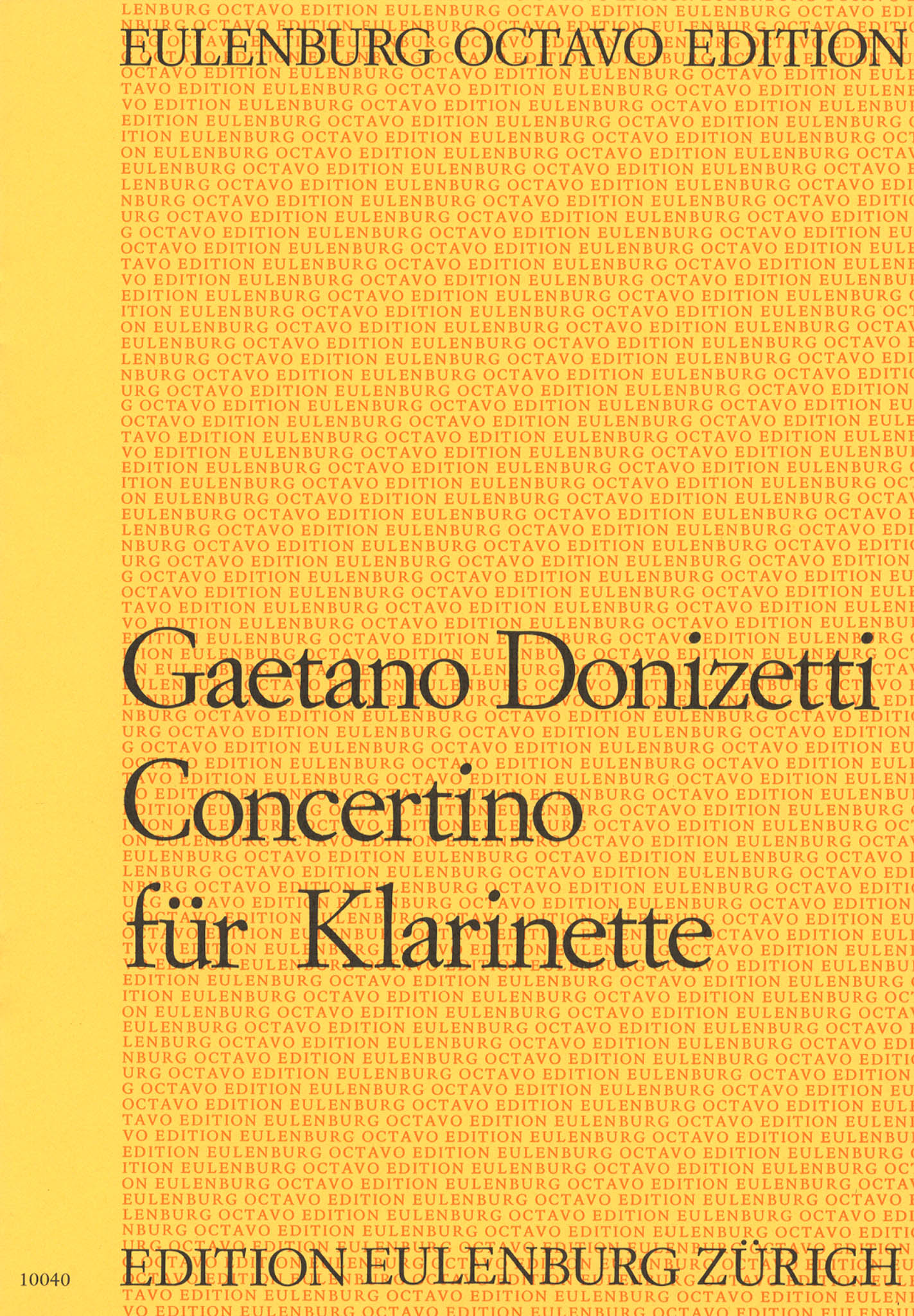 Donizetti Concertino in B-flat Major Cover