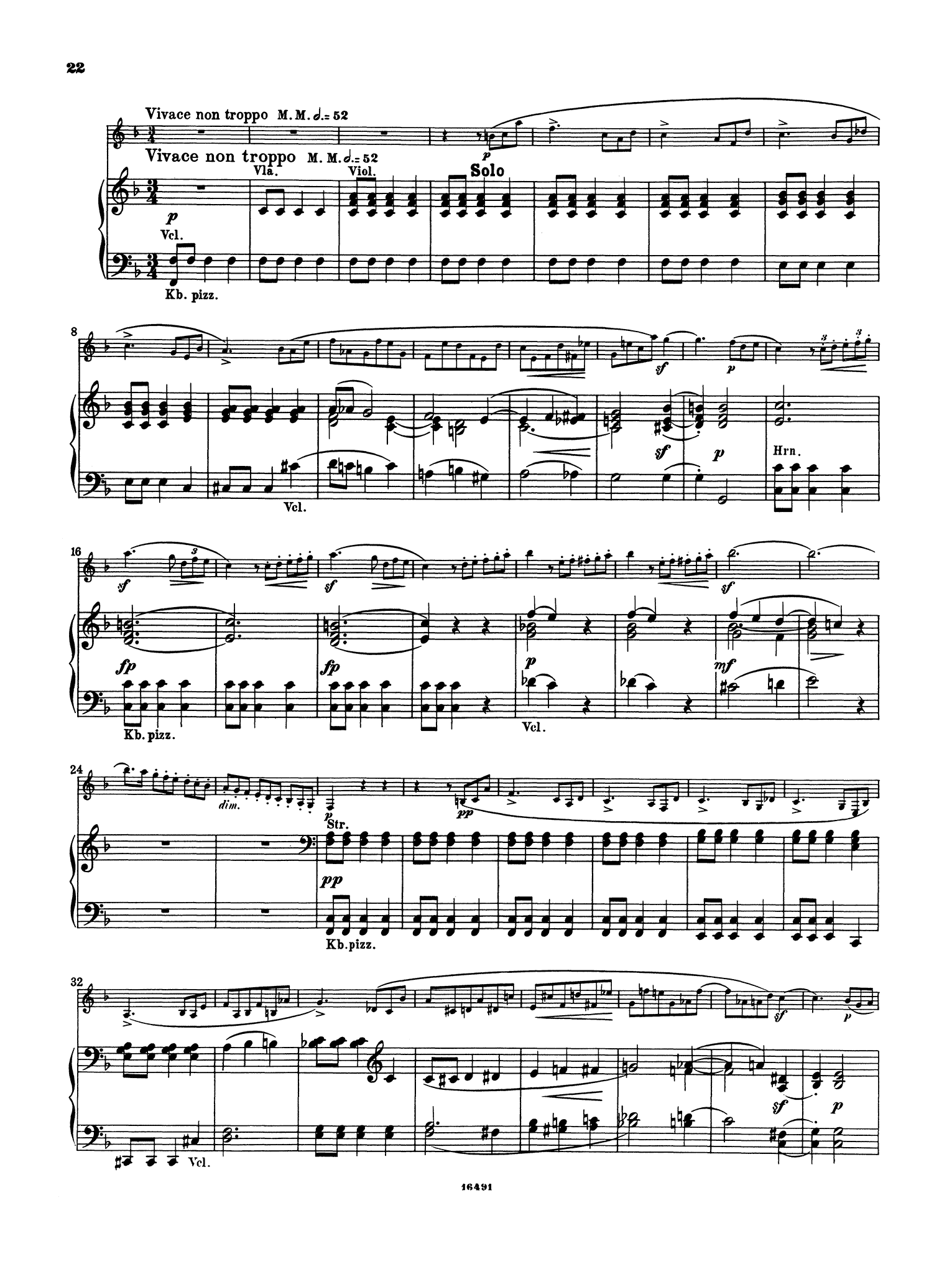 Clarinet Concerto No. 3 in F Minor, WoO 19 - Movement 3