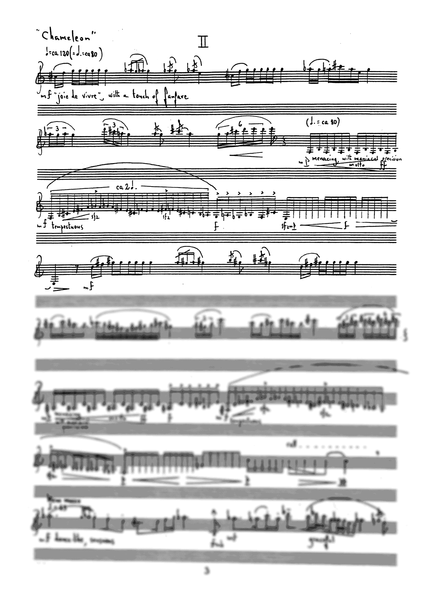 Three Scenes for Clarinet - Movement 2