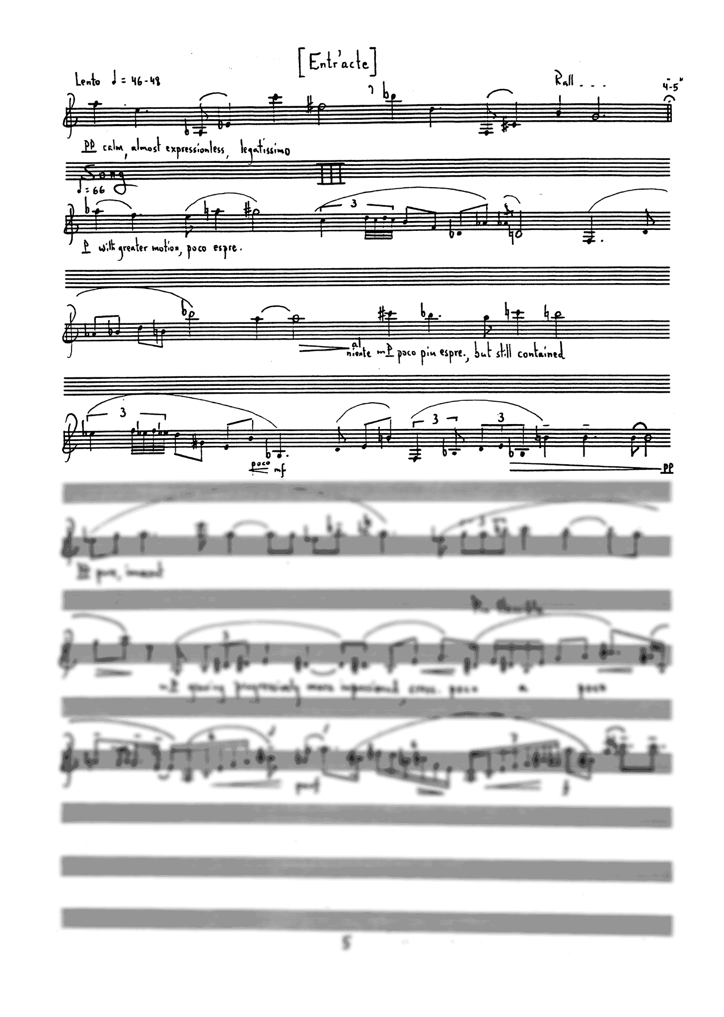 Three Scenes for Clarinet - Movement 3