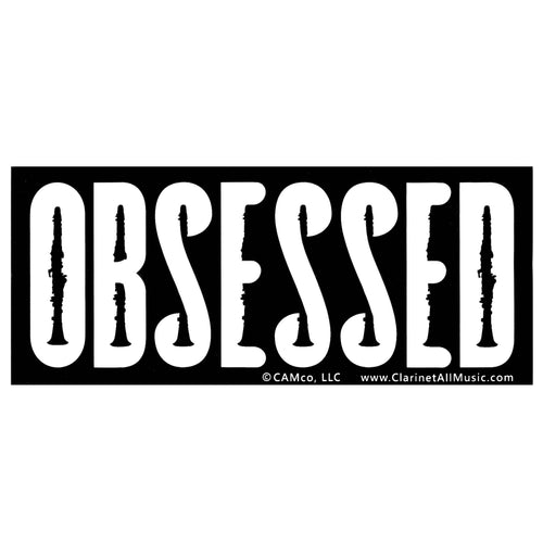 Clarinet Obsessed Vinyl Sticker