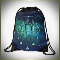 Ethereal City drawstring bag