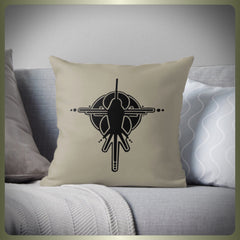 Crop circle bird cushion