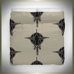 Crop circle bird duvet