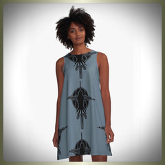 Crop circle bird A-Line dress