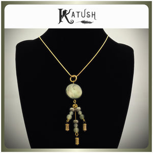 Shell Green Droplet pendant