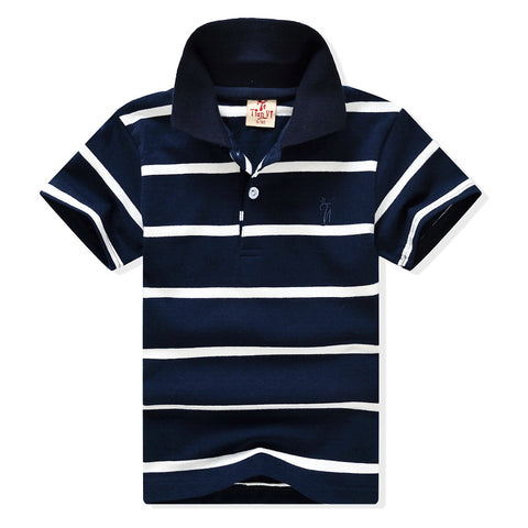 2-11yrs Baby Boys Polo Shirt Summer 2017 Boys Girls Cotton Polo Shirts Shorts Sleeve Brand Children Clothing Stripe Boys Clothes