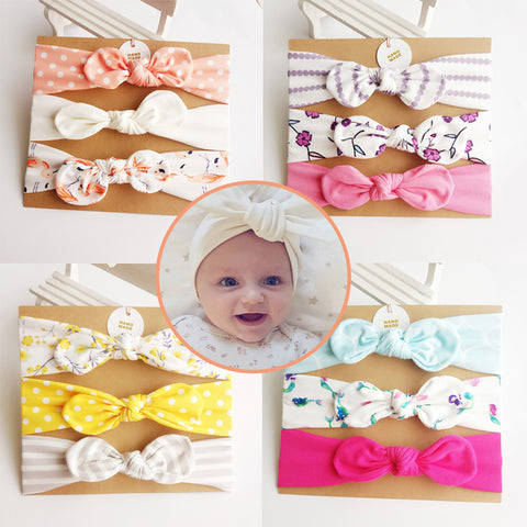 3pcs/set Cotton Baby Headbands Baby Hair Accessories Lovely Photographic Make Up Hair Bands cabelo infantil