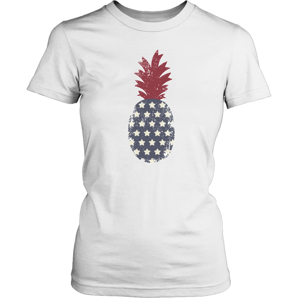 Stars And Stripes Pineapple Tee - Maoli Life