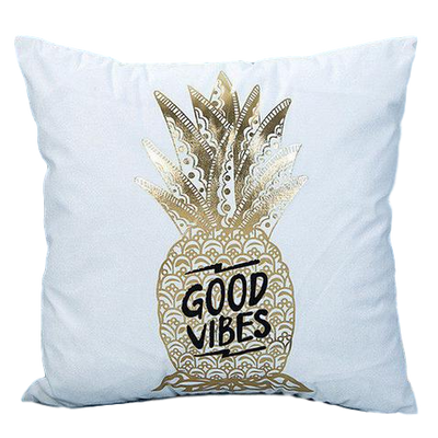 Good Vibes Golden Pineapple Pillow - Maoli Life